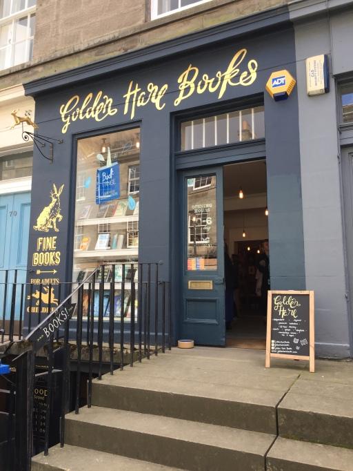 Front of Golden Hare Books in Edinburgh