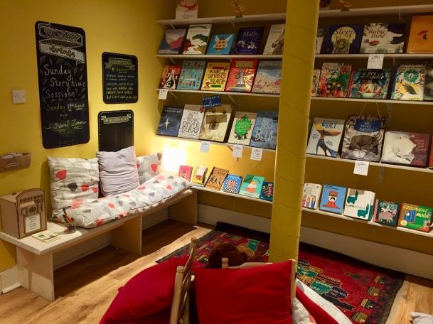 Children's section in Golden Hare Books