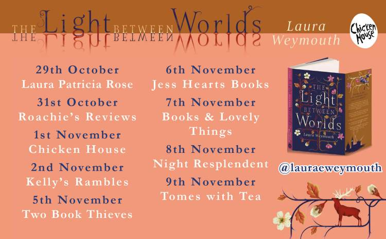 Light Between Worlds blog tour banner