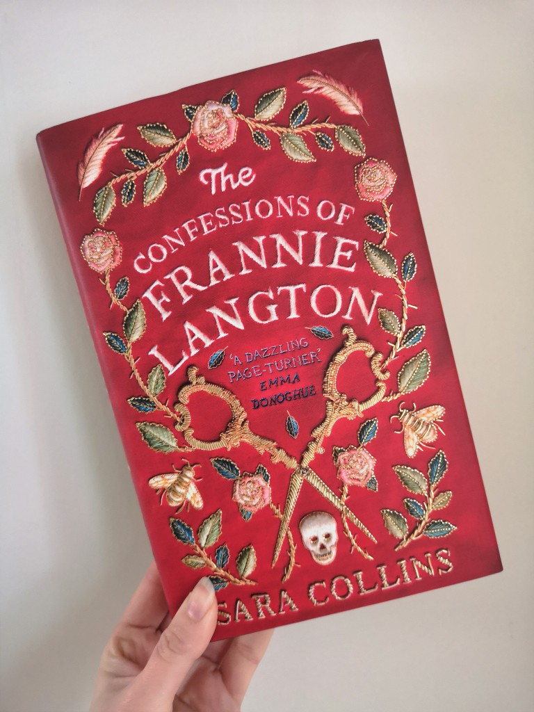A picture of the book The Confessions of Frannie Langton on a white background.