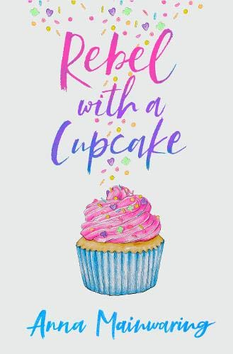 This image of Rebel with a Cupcake by Anna Mainwaring. It features a pastel cupcake in a blue cake with pink icing.